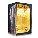 600D High Reflective Mylar Waterproof Oxford Cloth Indoor Grow Tent Dark Room w/Plastic Corner Floor Tray for Indoor Plant Growing